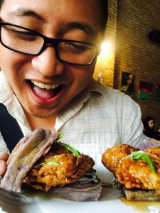 Adobo chicken and ube waffles at Kultura Festival 2015